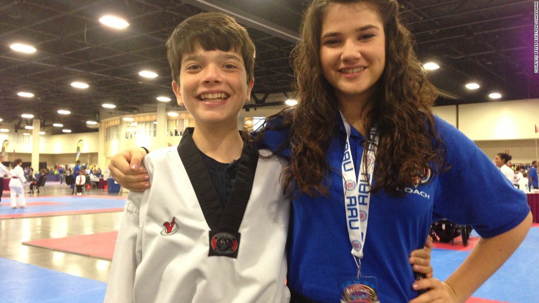 Katarina says her autistic brother Kenny's confidence has grown immensely since he started doing Taekwondo.