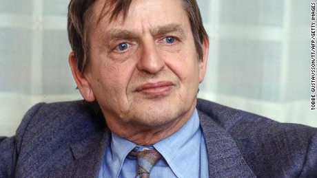 Swedish Prime Minister Olof Palme was assassinated on a Stockholm street in 1986.