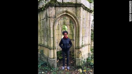 A fan of the outdoors, Yemoonyah loves the look of the little 'chapel' she found in the woods surrounding the castle.
