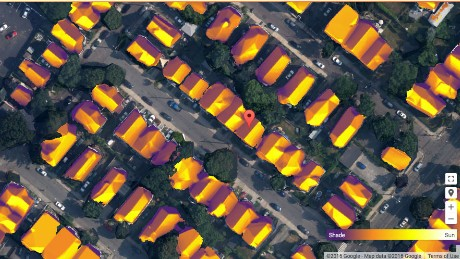 Google Project Sunroof estimates that a roof in the city of Somerville, Massachusetts experiences 1,479 hours of usable sunlight per year. This amounts to an estimated $18,000 in net savings for the roof with a 20-year lease.