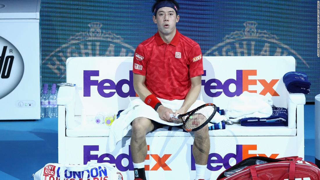 Such travails at the end of a long season will have been testing for both players, but it was Murray who started the second set more confidently, immediately breaking Nishikori as he attempted to wrestle back control.