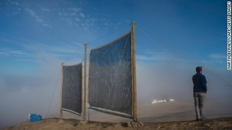 Harvesting fog to solve a water crisis