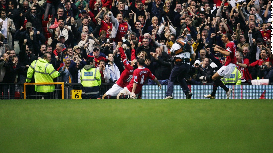 "A year after his injury-time penalty crashed against the crossbar -- missing the opportunity to end Arsenal's ""Invincibles"" run in its infancy -- Ruud van Nistelrooy scored from the spot at Old Trafford in October 2004 to halt the Gunners' unbeaten streak at 49 games. On his knees and screaming into a microphone, this was one of the most cathartic goals in Premier League history."