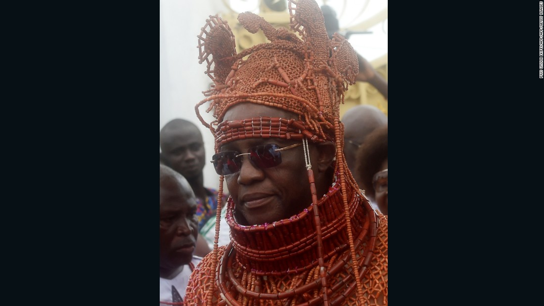 Oba Ewuare II the newly crowned 40th Monarch of the Benin kingdom.