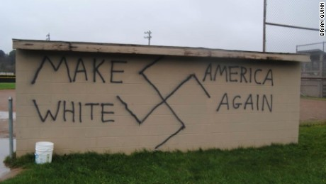 make america white again racist graffiti