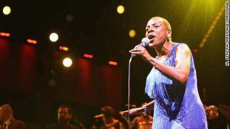Sharon Jones and The Dap-Kings perform at opening night of Celebrate Brooklyn! at Prospect Park Bandshell on June 8, 2016 in New York City.