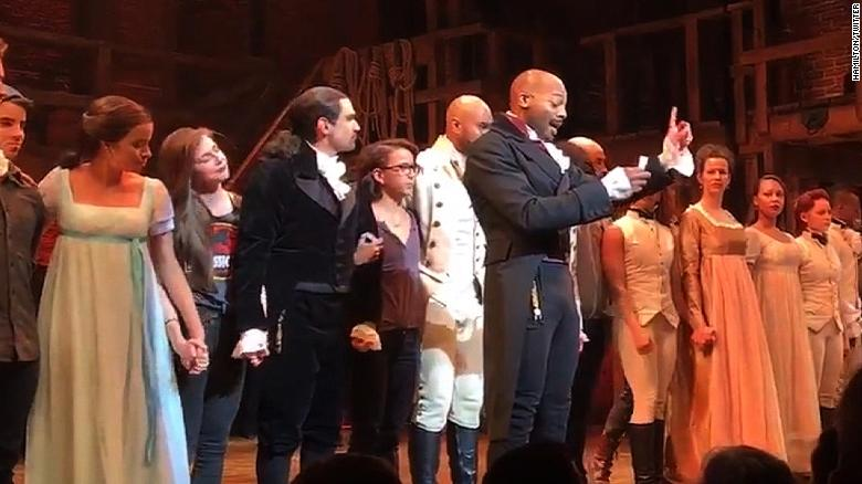 'Hamilton' stars give Mike Pence a message