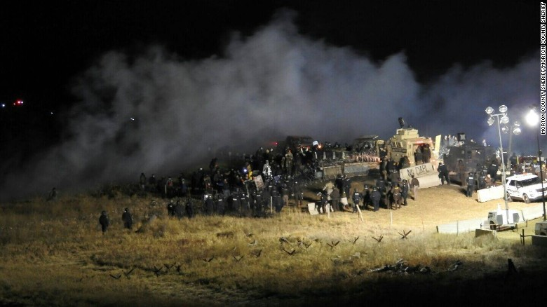 Violence at Dakota Pipeline protest site