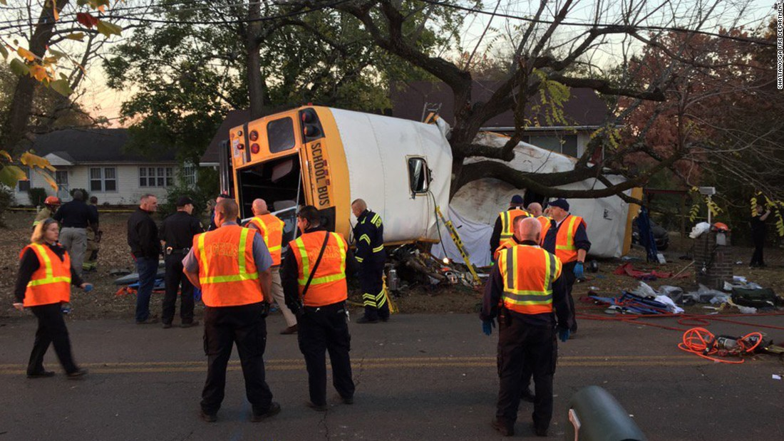 "Six children were killed after a school bus <a href=""http://www.cnn.com/2016/11/23/us/chattanooga-school-bus-crash/"" target=""_blank"">crashed and flipped over</a> in Chattanooga, Tennessee, on Monday, November 21. More than a dozen other students were injured -- some with severe head or spinal injuries -- and the driver faces charges of reckless driving and vehicular homicide."