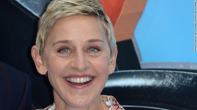 "Ellen DeGeneres attends the UK Premiere of ""Finding Dory"" at Odeon Leicester Square on July 10, 2016 in London, England.  (Photo by Anthony Harvey/Getty Images)"