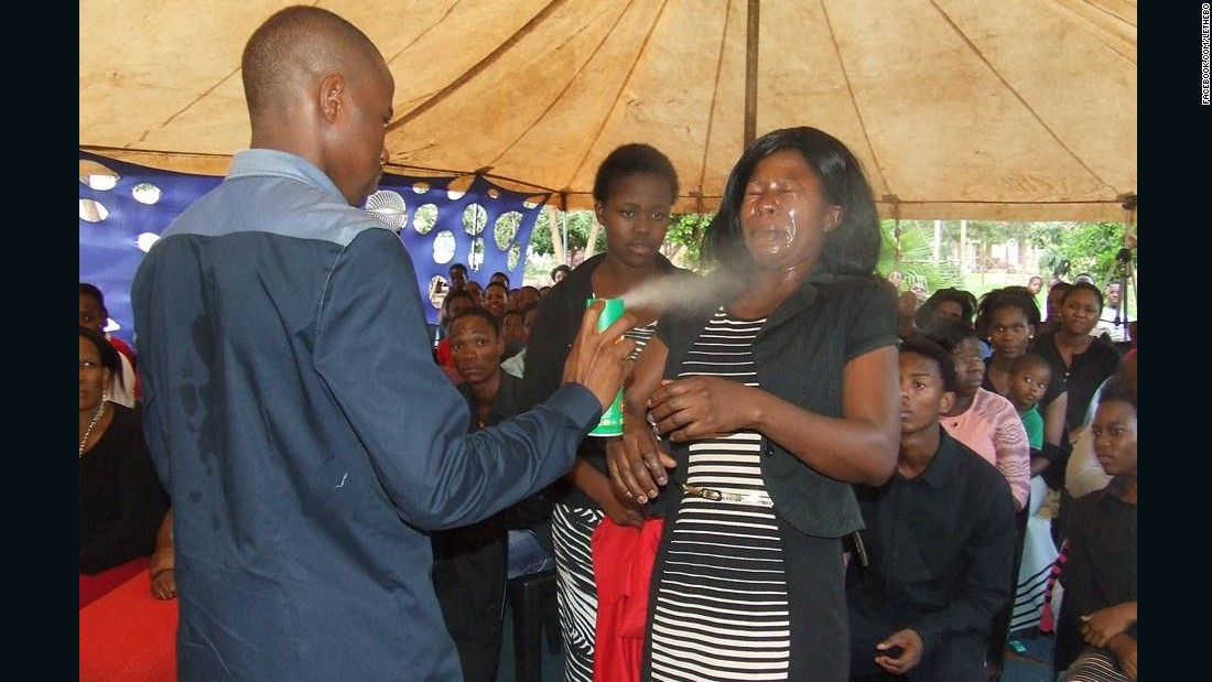 South African pastor sprays insecticide on congregants 'to heal them'