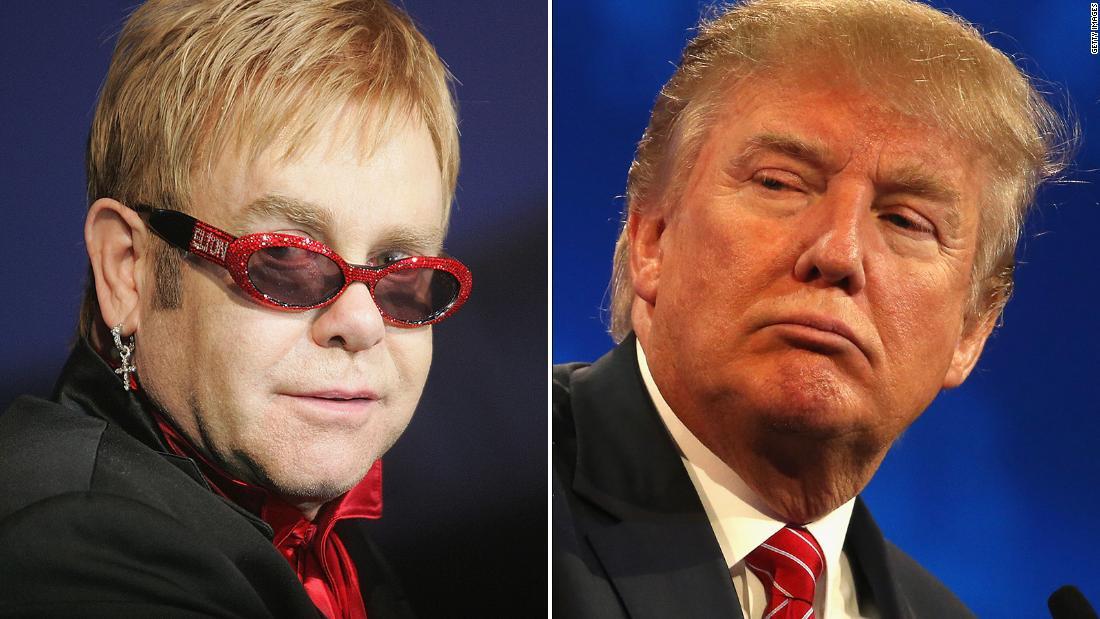 Spokeswoman: Elton John will not be performing at Trump's Inauguration