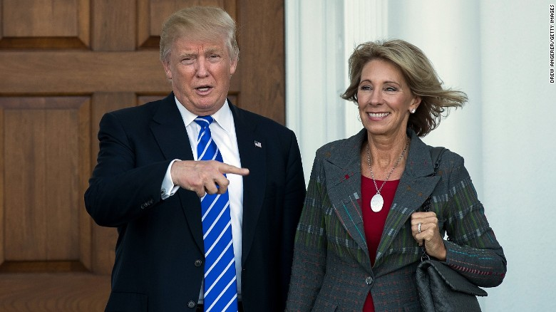 DeVos picked for Trump's education secretary