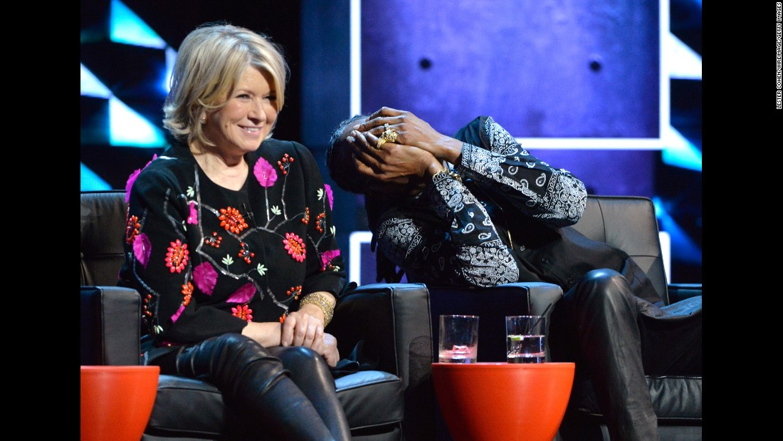 "Television personality Martha Stewart and rapper Snoop Dogg attend the Comedy Central roast of singer Justin Bieber on Monday, March 14. Stewart and Snoop are now <a href=""http://www.cnn.com/2016/09/20/entertainment/martha-stewart-snoop-dogg-tv-show/"" target=""_blank"">co-hosting a new VH1 series</a> called ""Martha and Snoop's Dinner Party."""