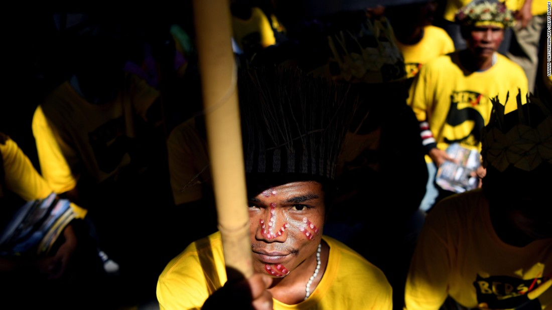 "Members of a Malaysian indigenous tribe attend a rally Saturday, November 19, calling for the resignation of Malaysian Prime Minister Najib Razak. Thousands of people <a href=""http://www.cnn.com/2016/11/19/asia/malaysia-protests-bersih-five/"" target=""_blank"">flooded the streets of Kuala Lumpur,</a> Malaysia's capital, to protest against Najib. Public dissatisfaction with Najib has grown, especially after news broke over alleged financial mismanagement of a government-run fund called 1Malaysia Development Berhad, or 1MDB. <a href=""http://www.cnn.com/2016/01/30/asia/1mdb-scandal-4-billion-dollars/"" target=""_blank"">He was recently cleared of wrongdoing</a> by the Malaysian Anti-Corruption Commission."