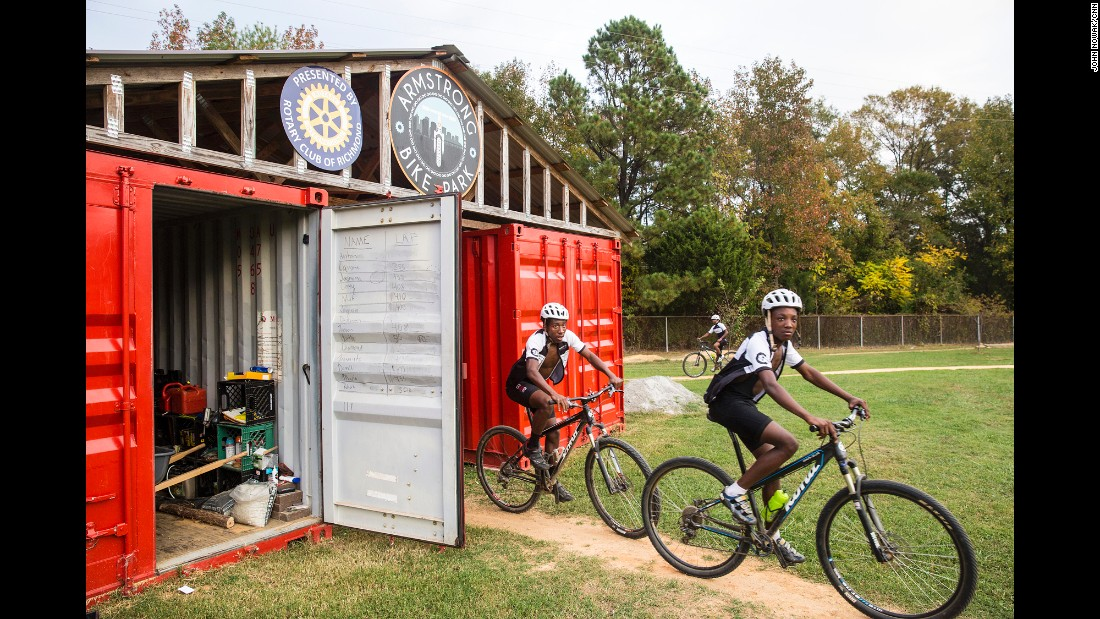 Practice gets underway at the Richmond Cycling Corps track. Dodson and his staff do everything in their power to ensure their students succeed away from the track.