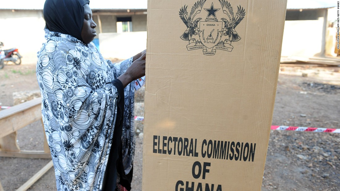 "The 2012 elections were fraught with allegations of electoral irregularities and fraud, particularly  with '<a href=""http://www.theafricareport.com/West-Africa/ghana-supreme-court-orders-voters-register-cleanup.html"" target=""_blank"">bloated voters' </a>on the electoral register. <br /><br />Pictured: A woman casts her vote at Maluwe, Bole Bamboi constituency in December 2012."
