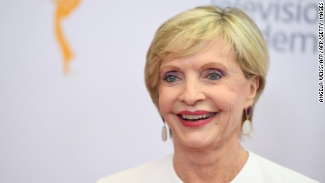Actress Florence Henderson arrives on the red carpet for the 68th Los Angeles Emmy Awards featuring Niecy Nash, Jason George, Mary Holland, Florence Henderson and Larry King in North Hollywood, California, on July 23, 2016.    / AFP / Angela WEISS        (Photo credit should read ANGELA WEISS/AFP/Getty Images)