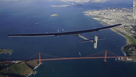Mountain View, USA, April 23rd 2016: Solar Impulse landed at Moffett Airfield, completing the pacific crossing. Departed from Abu Dhabi on march 9th 2015, the Round-the-World Solar Flight will take 500 flight hours and cover 35000 km. Swiss founders and pilots, Bertrand Piccard and André Borschberg hope to demonstrate how pioneering spirit, innovation and clean technologies can change the world. The duo will take turns flying Solar Impulse 2, changing at each stop and will fly over the Arabian Sea, to India, to Myanmar, to China, across the Pacific Ocean, to the United States, over the Atlantic Ocean to Southern Europe or Northern Africa before finishing the journey by returning to the initial departure point. Landings will be made every few days to switch pilots and organize public events for governments, schools and universities.