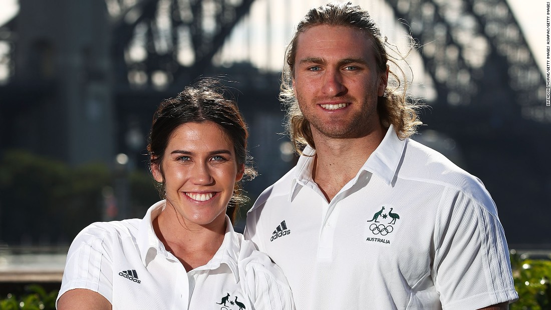 Part of that interest is down to her being one half of the golden couple of sevens, along with Australia's new men's captain Lewis Holland.