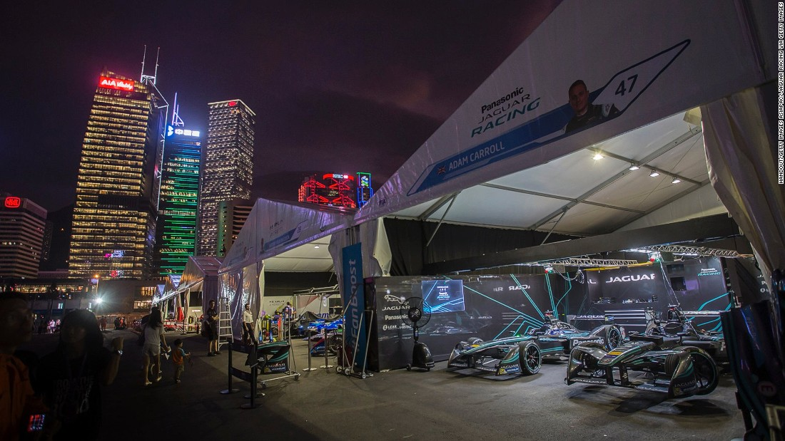 Hong Kong's towering skyline provided the backdrop to the race on the streets around the Central Harborfront. The pit lane featured a new name, with the Jaguar Racing team entering Formula E for the first time.
