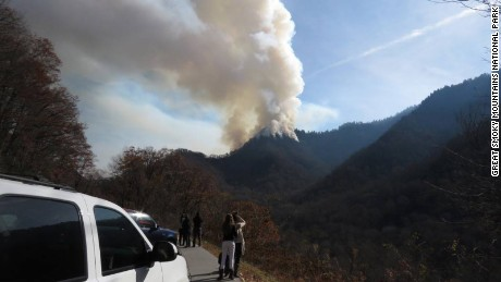 Great Smoky Mountains National Park officials have closed Newfound Gap Road, Cherokee Orchard Road, Elkmont Road, and several trails due to the Chimney 2 Fire.