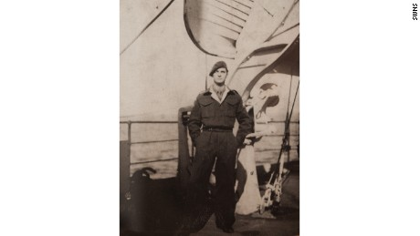 Joe Bartley as a signalman for the 6th Airborne Division in 1946.