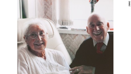 Joe Bartley on Christmas day with his wife Cassie in 2014.
