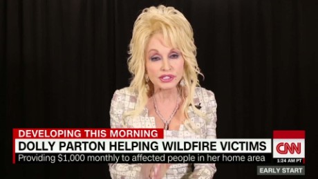 Dolly Parton starts fund for families affected by Tennessee fires