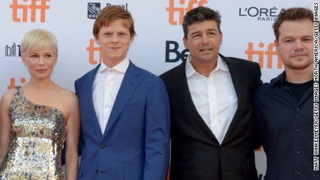 "Actors Michelle Williams, Lucas Hedges, Kyle Chandler and ""Manchester By the Sea"" producer Matt Damon attend the film's premiere during the 2016 Toronto International Film Festival at Princess of Wales Theatre on September 13, 2016 in Toronto, Canada."