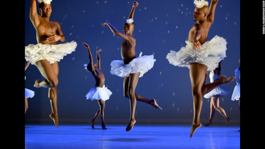"<strong>February 2:</strong> Dancers take part in a dress rehearsal of ""Swan Lake"" before it opened at the Joyce Theater in New York."
