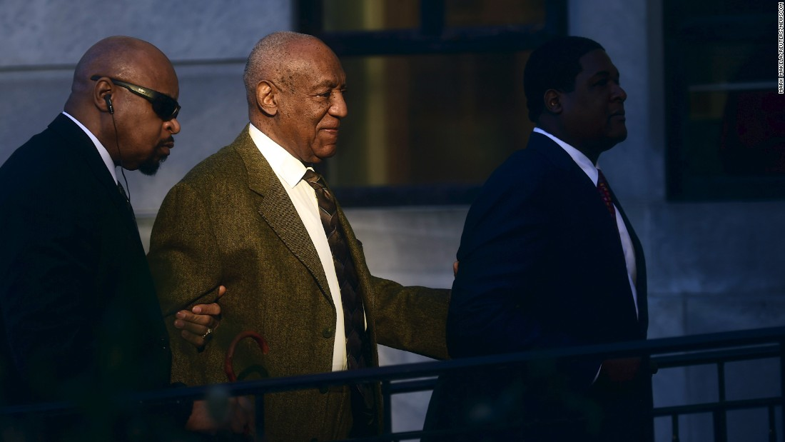 "<strong>February 2:</strong> Comedian Bill Cosby, second from left, leaves a courthouse in Norristown, Pennsylvania, after a preliminary hearing. Cosby <a href=""http://www.cnn.com/2016/05/24/us/bill-cosby-hearing/"" target=""_blank"">faces three counts of felony aggravated indecent assault</a> from a 2004 case involving Andrea Constand, an employee at his alma mater, Temple University. She was the first of more than 50 women who have accused Cosby of sexual misconduct. Cosby has denied the allegations."