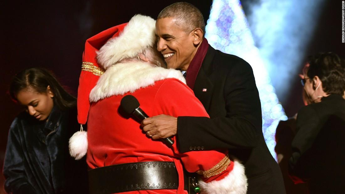 Obama lights national Christmas tree for the final time - CNNPolitics