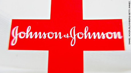 A Johnson & Johnson logo is displayed for a photograph in Tiskilwa, Illinois, U.S., on Monday, April 11, 2011. Johnson & Johnson, the world's second-biggest seller of medical products, will pay $70 million after admitting that the company bribed doctors in Europe and paid kickbacks in Iraq to win contracts and sell drugs and artificial joints. Photographer: Daniel Acker/Bloomberg via Getty Images