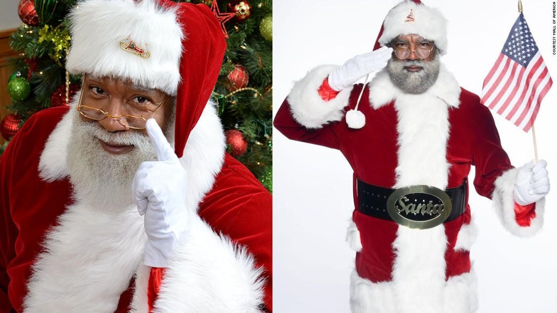 Mall of america hosts first black santa cnn