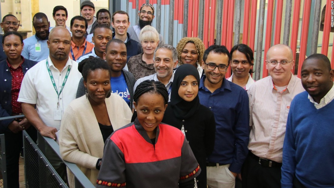 "Greater access to technology means ""we are looking at solving problems in Africa in a way we never thought possible before,"" Siwo says. ""We are not only looking at how technology will enable us now but we are starting to think about how technology will work in the future."" <br />Pictured: the team of researchers in Johannesburg, South Africa."