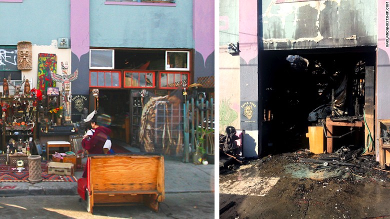 Before and after the fatal Ghost Ship fire