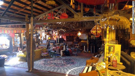 The interior of The Ghost Ship, the warehouse that caught fire on Friday, December 2.