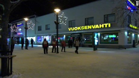 The shooting took place outside a Finnish restaurant.