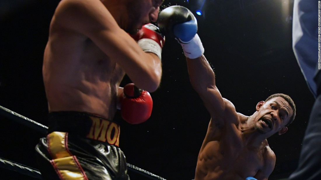 Pictured, Jacobs recently retained his title by knocking out Sergio Mora in September 2016. Jacobs has recorded 29 knockouts in 33 pro fights.