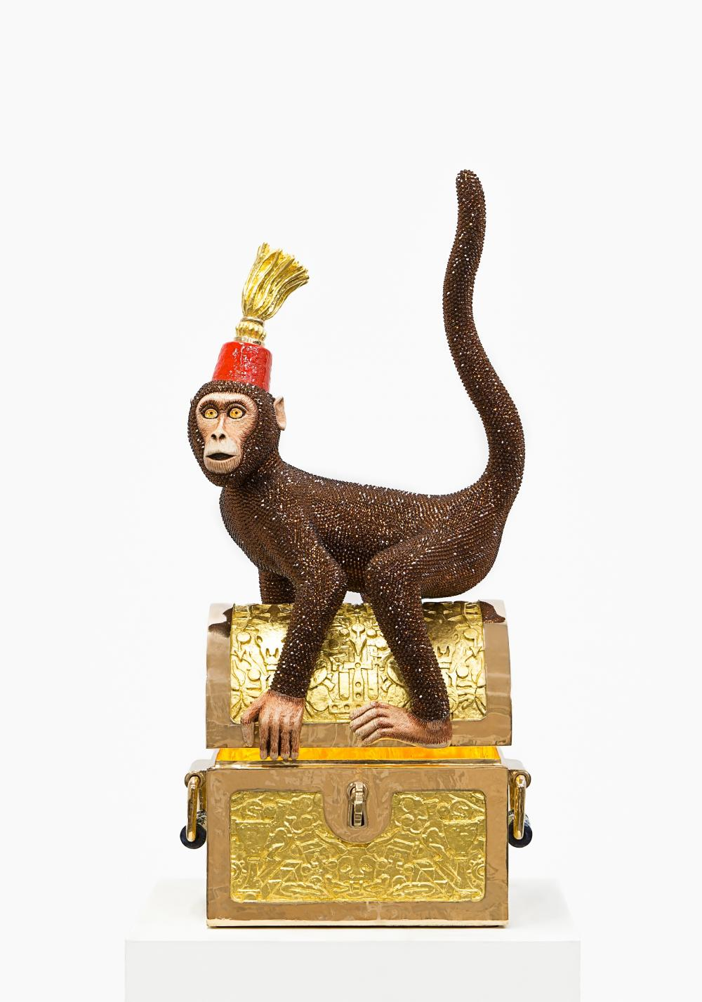 the story behind this crystal covered monkey cnn style