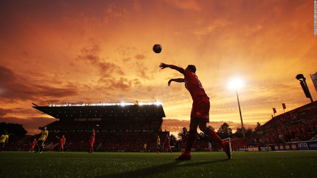 "A player throws the ball back into play during an Australian league soccer match between Adelaide United and Wellington Phoenix in Adelaide, Australia, on Sunday, December 4. Adelaide won 2-0. <a href=""http://www.cnn.com/2016/11/28/sport/gallery/what-a-shot-sports-1129/index.html"" target=""_blank"">See 28 amazing sports photos from last week</a>"