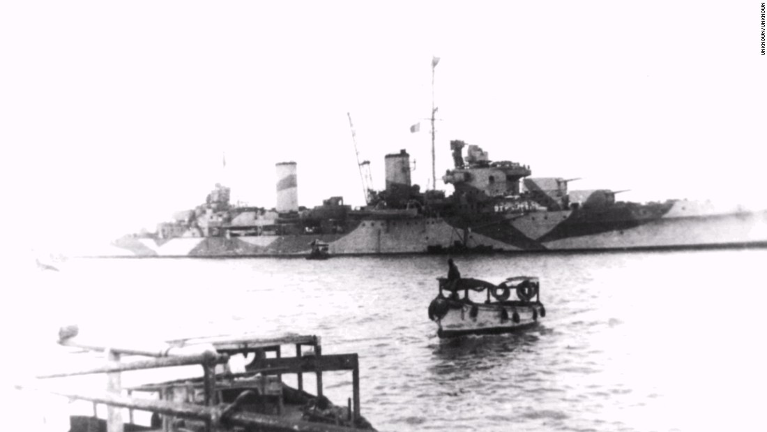 The HMAS Perth, a Royal Australian Navy light cruiser was sunk in the Battle of the Sunda Strait on March 1, 1942.