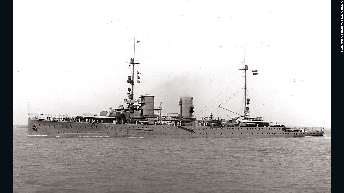 Cruiser HNLMS Java was sunk during the Battle of the Java Sea on February 27, 1942.