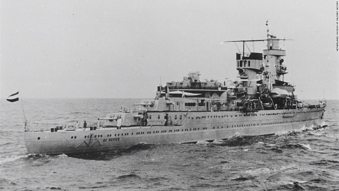 HNLMS De Ruyter was also downed that day, killing 235 of 437 crew members.