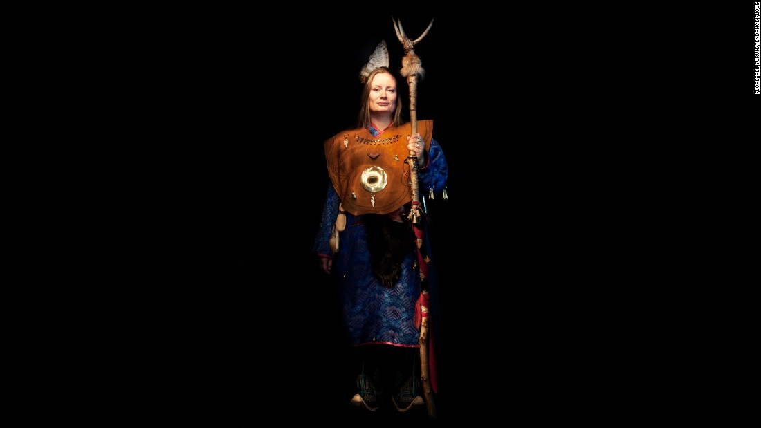 Anja Normann, a shaman from Sweden.