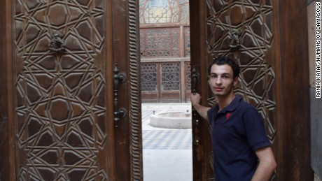 Yousef Jamous, photographed by Humans of Damascus, works at Al Zahir Library in Old Damascus.
