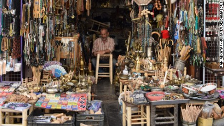 Mohamad Hadiyyeh, photographed by Humans of Damascus, sells antiques in Qabaqbiyyeh neighborhood.