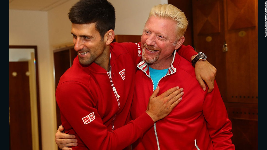 "Djokovic appointed six-time grand slam champion Boris Becker head coach in December 2013, citing him as a ""true legend."" It would become a fruitful partnership, with Djokovic winning six major titles in three years."