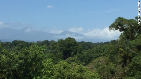 A view from the forest canopy at La Selva Biological Station in Costa Rica.
